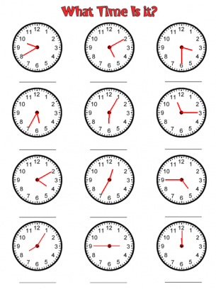 Punchy image with regard to printable clock worksheets