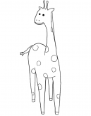 Giraffe Coloring Pages Sheet