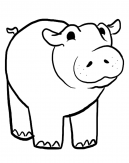Hippo Coloring Pages Sheets