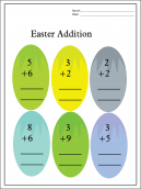 Easter Addition Worksheets