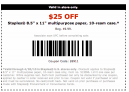 Staples Coupons 25 Off Paper