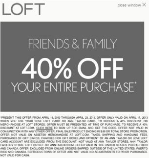 picture relating to Loft Coupon Printable identified as Loft coupon code january 2018 : Impressive coupon fb