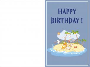 Happy Birthday Island Cards