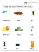 Vowels Lessons Worksheets