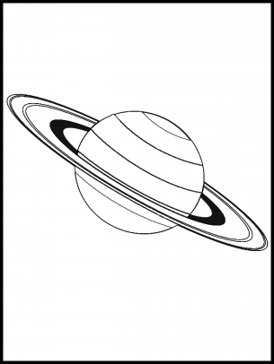 saturn coloring sheet
