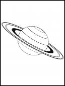 Saturn Coloring Sheet