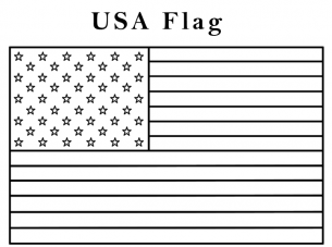USA Flag Coloring Sheets