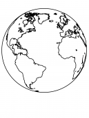 Earth Coloring Sheet