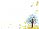Blue Tree Autumn Card Makers