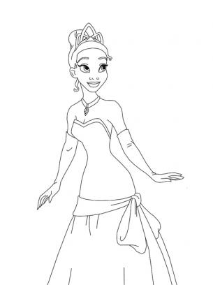 Disney Princess Tiana Coloring Sheets