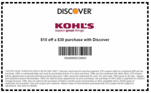 Kohls Coupons 10 Off Discover