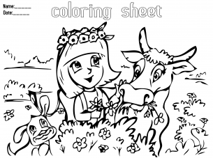 Animal Friends Coloring Sheets