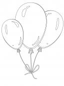 Balloon Coloring Sheet