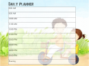 Trike to School Daily Planner