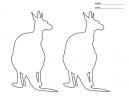 Double Kangaroo Stencils