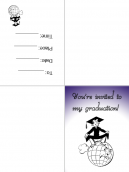 Comic Graduation Party Invitation