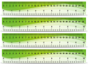 Green Wave Rulers 10 Inches