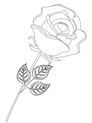 print out roses coloring pages | Rose Coloring Pages