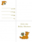 Baby Shower Invitations Teddy Bear