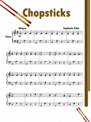 Printable Piano Music Sheets Chop Sticks