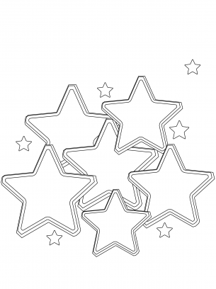 free coloring stars pages - photo#21