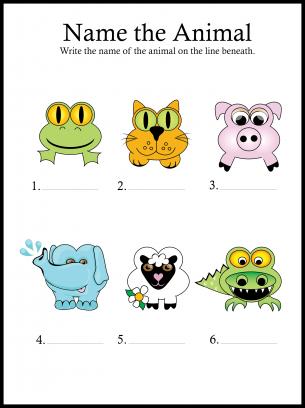 Homeschool fav - Name the animals