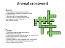 Crossword Puzzles Animals