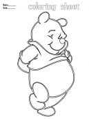 Coloring Sheets Winnie the Pooh
