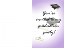Graduation Invitations Purple