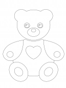 Teddy Bear Coloring Sheet