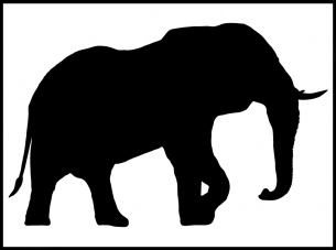 Elephant stencil Paper crafts
