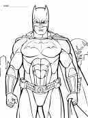 Coloring Sheets Batman