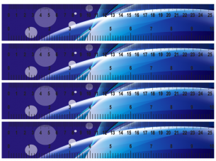 Purple Paper Rulers