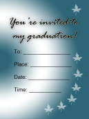Graduation Invitations Blue Autumn