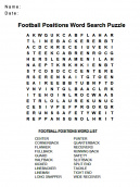 Football Wordsearch Puzzles
