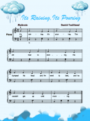 Piano Music Sheets Its Raining