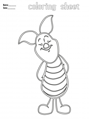 Coloring Pages Piglet