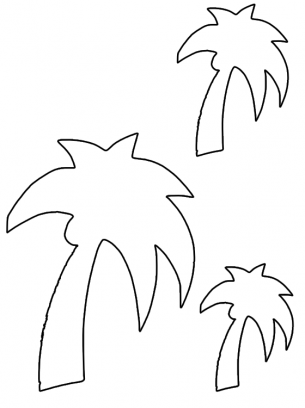 palm tree template free