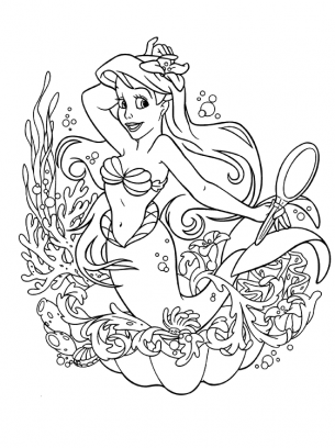 Printable Mermaid Coloring Pages For The Summer Free