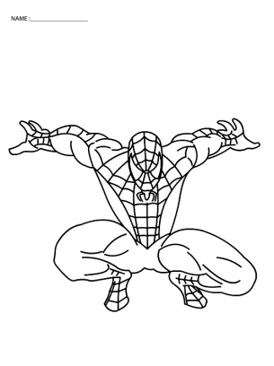 Jumping Spiderman Coloring Sheets