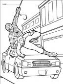 Spiderman saves Coloring Pages
