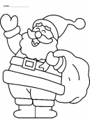 Laughing Santa Coloring Pages