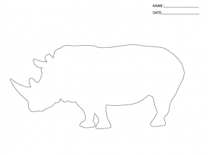 photograph about Rhino Printable identify Video game Templates Rhino