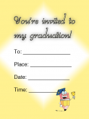 Pencil Graduation Invitations