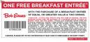 Bob Evans Free Breakfast