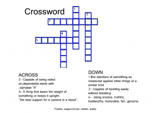 picture relating to Free Printable Crossword Puzzles for Kids known as Blue Crossword Puzzles