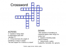 Blue Crossword Puzzles