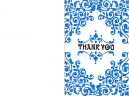 Thank you cards Blue