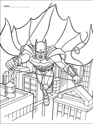 Flying Batman Coloring Pages