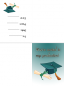 Graduation Invitations Green Caps